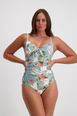 Moontide Botanica Tie Front Underwire Swimsuit