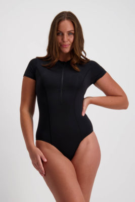 Moontide Contours Short Sleeved Swimsuit