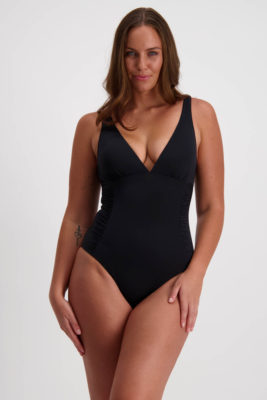 Moontide Contours Side Ruched Plunge Swimsuit