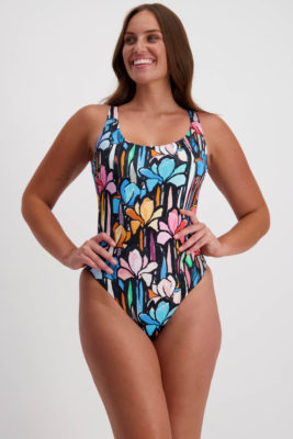 Moontide Floral Canvas Tank Swimsuit