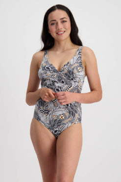 Moontide Hawaiian Totem Underwire Wrap Swimsuit